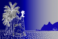 Torre spagnola blu