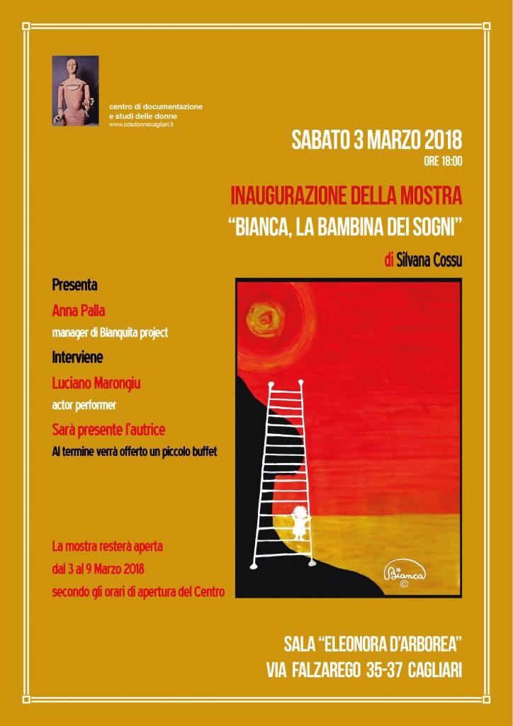 Espectáculo de Bianca en el Centro di Documentazione e studi delle Donne en Cagliari – sábado 3 de marzo